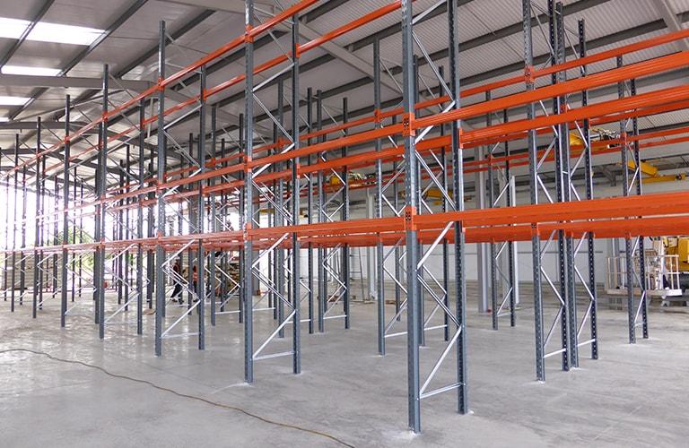 Industrial Racking Installation in Open Warehouse