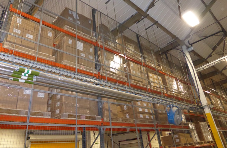 Anti-collapse Mesh for Racking