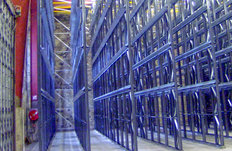 Compact Drive Through Racking with Cantilever Rails
