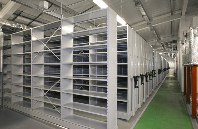 Industrial Mobile Archive Shelving Installation