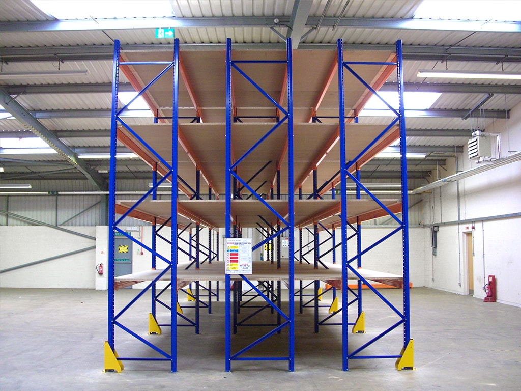 Front of Stow Racking Leistershire