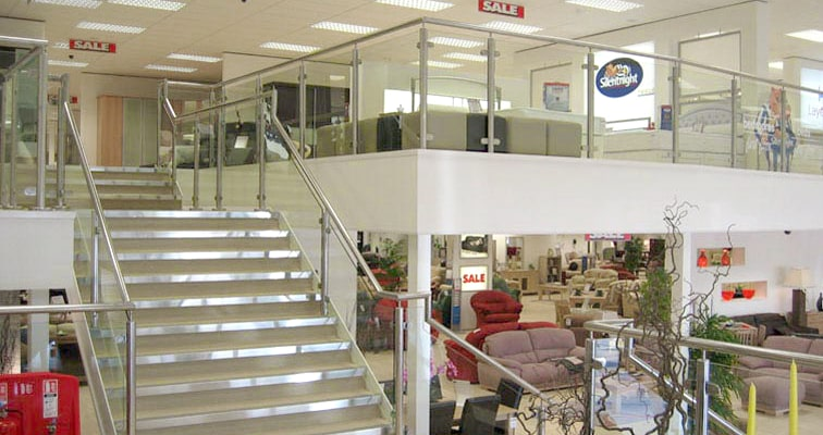 Retail Mezzanine Floor Installation
