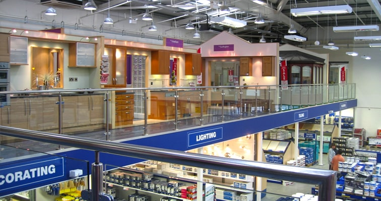 Retail Mezzanine Handrails Edge Protection