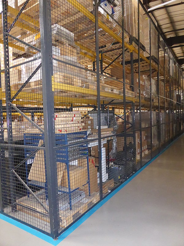Nottingham Pallet Racking Mesh Before