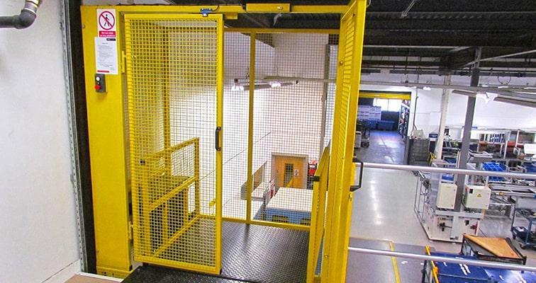 Retail Mezzanine Goods Lift