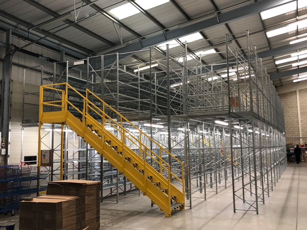 two tier warehouse racking