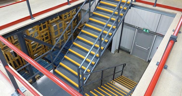 Mezzanine Floor Steel Staircase