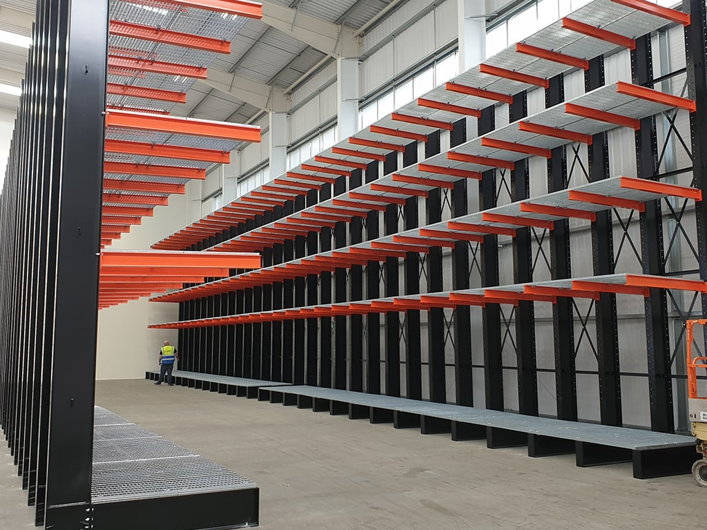 Cantilever Racking Installation Mitsubishi Europe Electric
