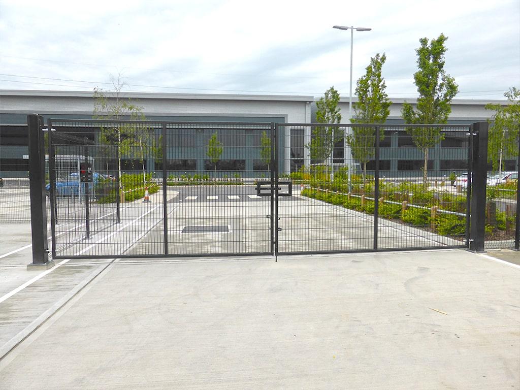 UK Warehouse Fence Installation