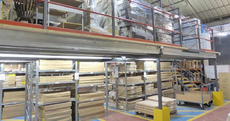 Small cheap storage mezzanine floor