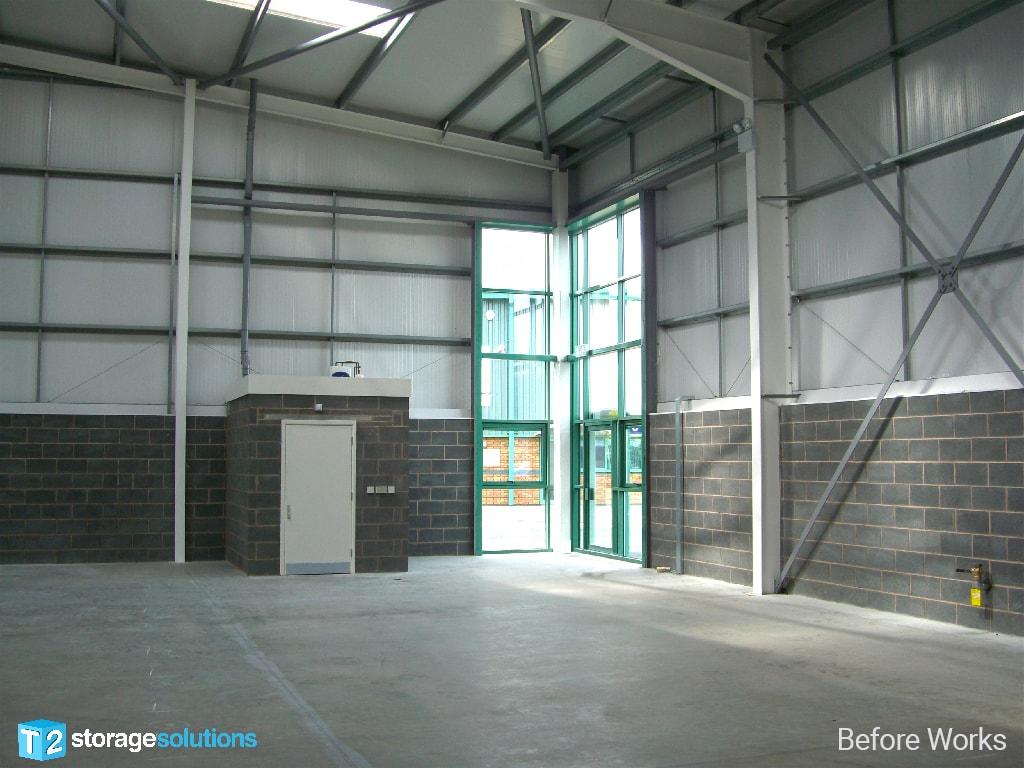 Mezzanine Floor before Installing West Midlands