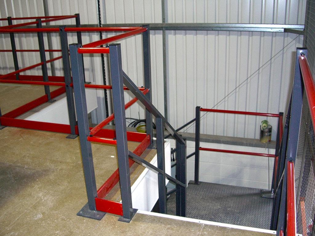 Mezzanine Staircase Installation