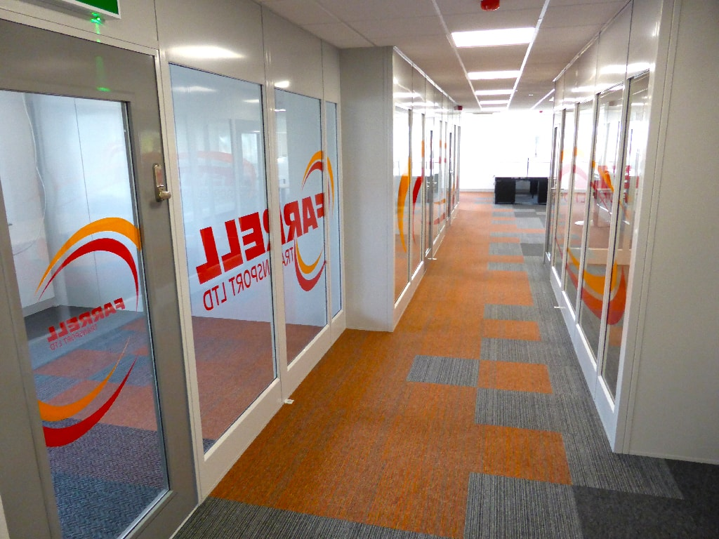 Refurbished Office Hallway