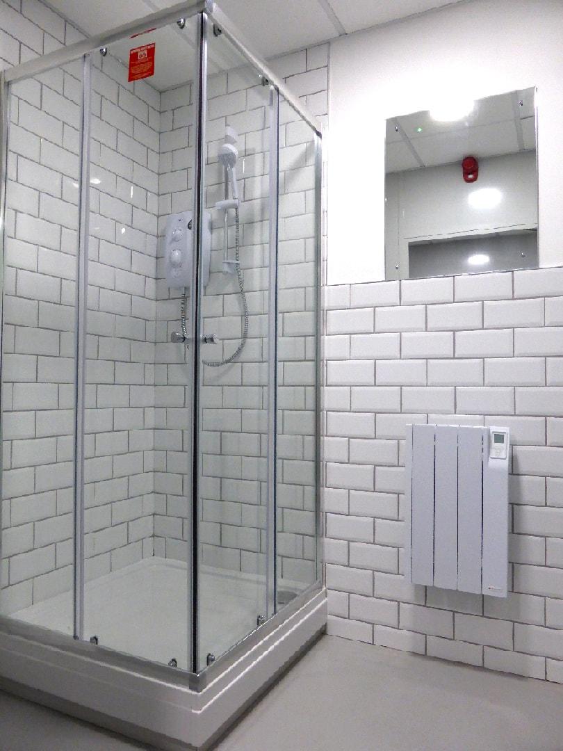 shower installation wet room design
