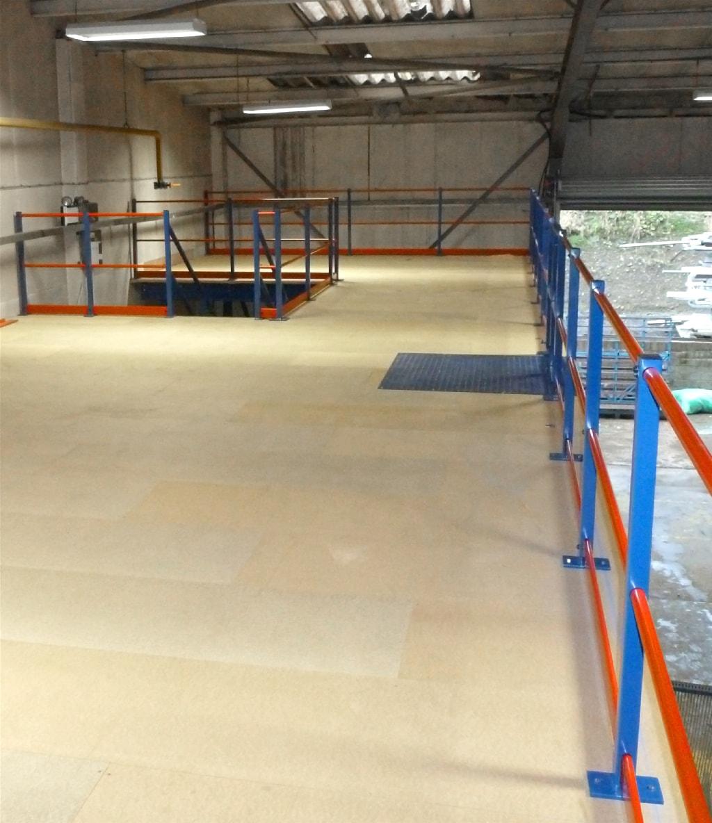 Mezzanine floor handrail Bolton