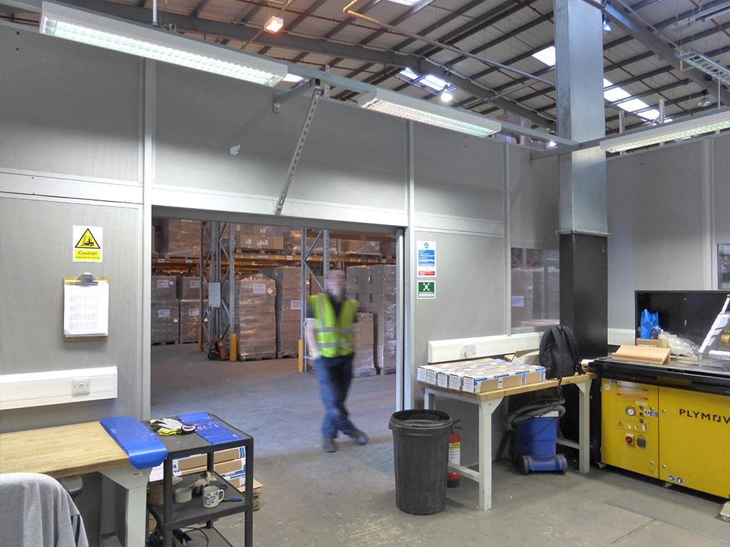 Warehouse Partition doorway