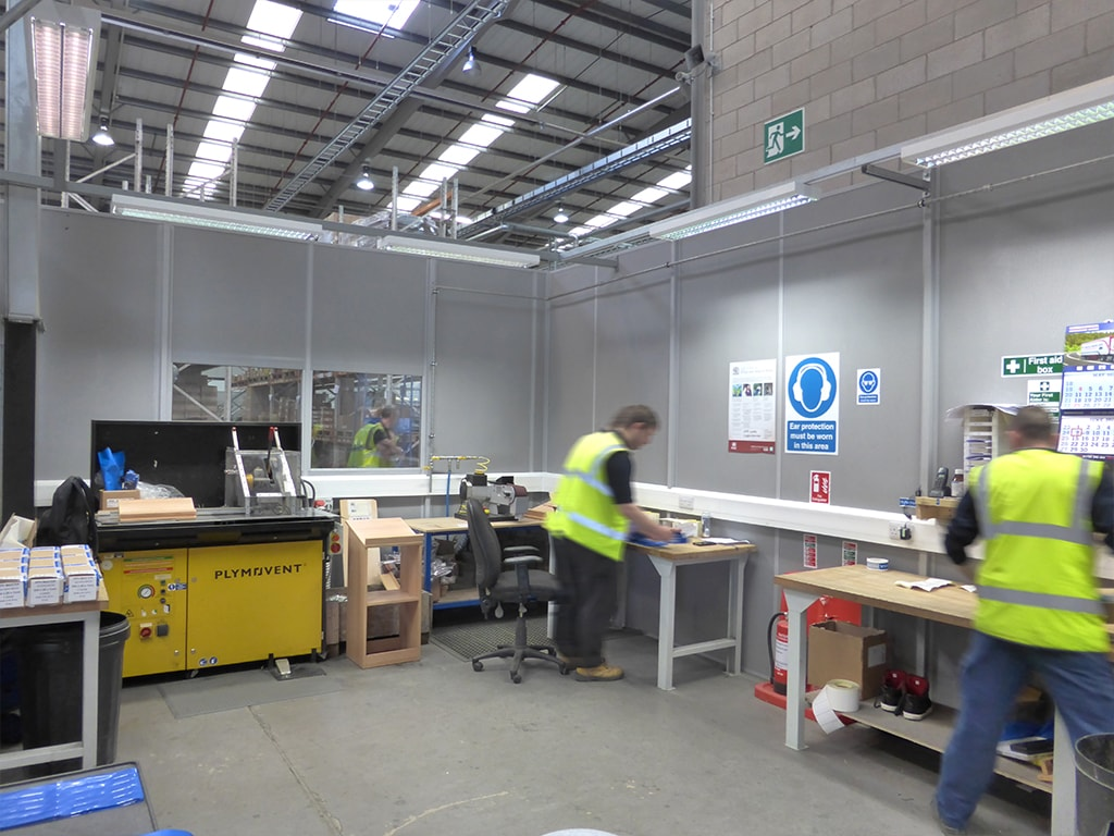 Mansfield Factory Partitioning