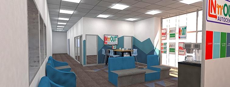 3D Warehouse Office Design